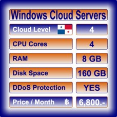 Offshore Windows Cloud Servers Level 4