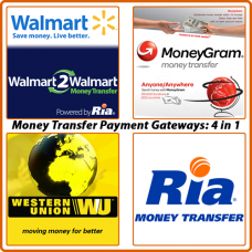 4 in 1 Money Transfer Payment Gateways for OC 1.x